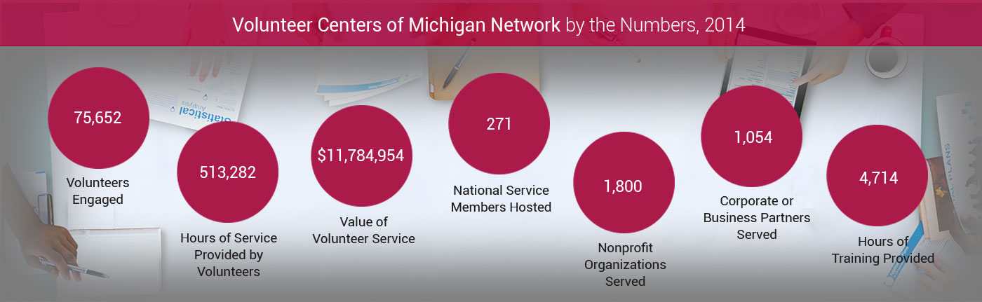 Volunteer Centers of Michigan Statistics